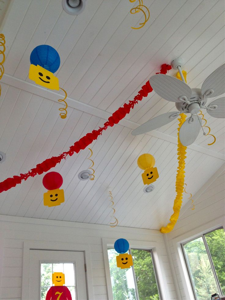 Lego party diy decorations lego party pinterest for Decoration lego
