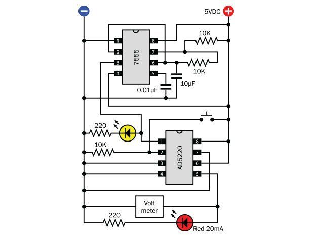 How To Use Digital Potentiometers To Control Light And Sound Make Electronics Basics Circuit Design Electronics