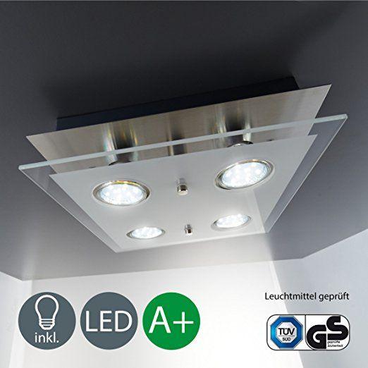 LED Deckenleuchte Inkl 4 X 3W Leuchtmittel 230V GU10 IP20 Deckenlampe Wohnzimmerlampe Lampe Deckenstrahler