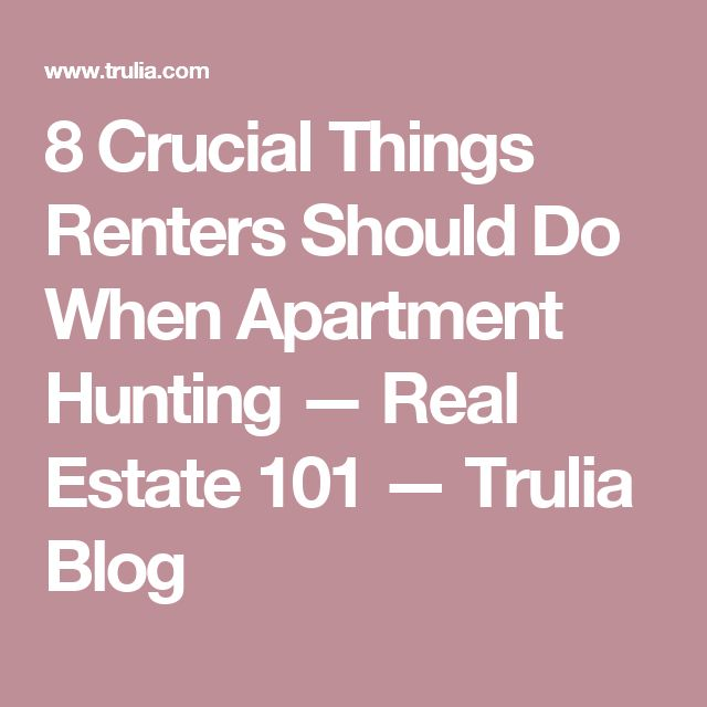1000+ Ideas About Apartment Hunting On Pinterest