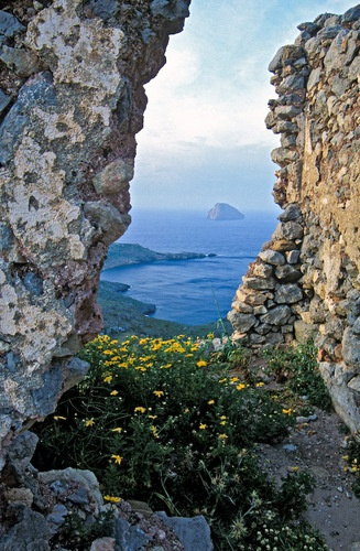 View from the castle of Kythira, Greece