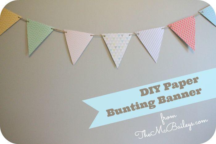 DIY Paper Bunting (Pendant Banner) | TheMcBaileys.com