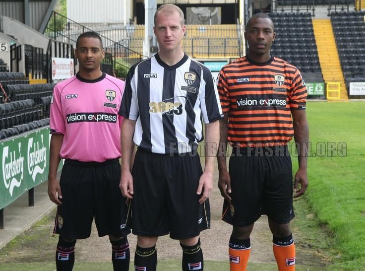 Notts County Fila 2012/13 Home, Away and Third Football Kits / Soccer Jerseys
