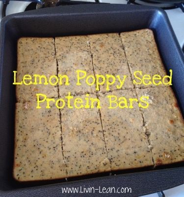 Ripped Recipes - Lemon Poppy Seed Protein Bars - Delicious protein bars that are convenient for when you're on the go!