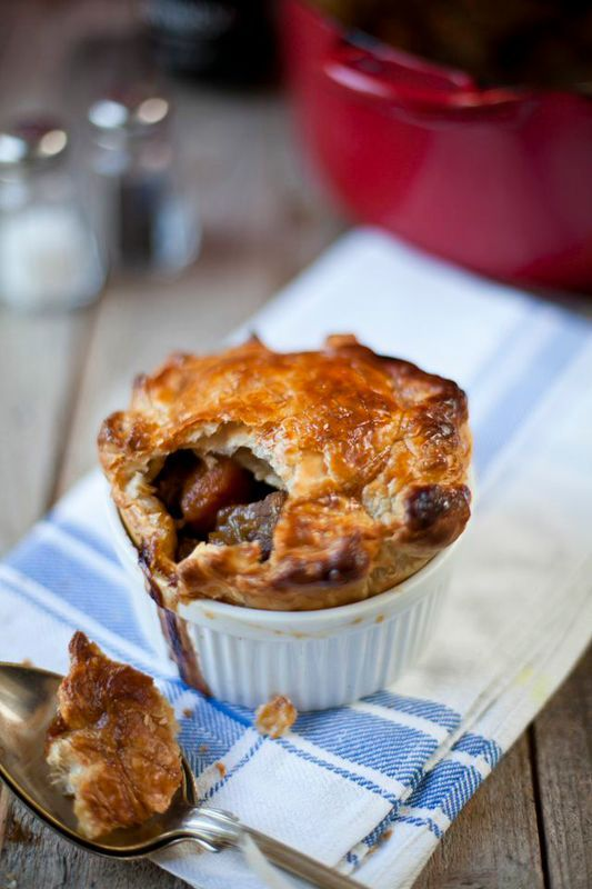 Beef & Guinness pie is a perfect dish for a cold autumn day. You can serve this as a stew or take it one step further and use it as the filling for an impressive pie. Do make sure the meat is tender b