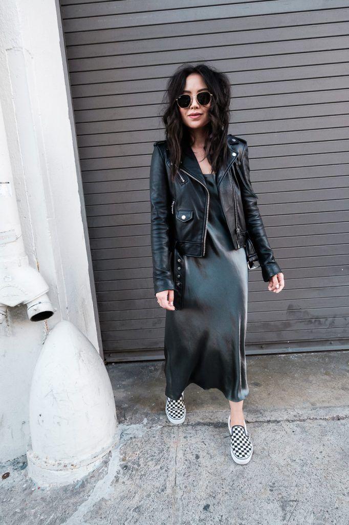 edc9b214efdd Holiday Outfit Idea: Vince Silk Slip Dress | The Fancy Pants Report ...