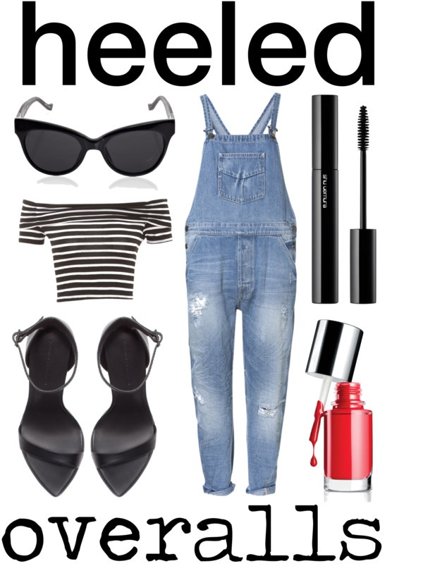 """heeled overalls"" by michelleanned on Polyvore"