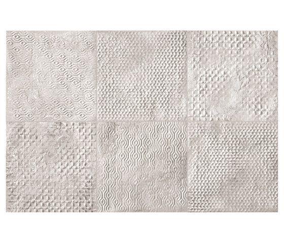 Maku Grid White Inserto Mix 6 by Fap Ceramiche | Floor tiles