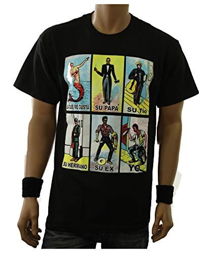 a7171e16 Graphic T-Shirt Loteria Mexico Card Game Spanish Funny Printed Tee ...