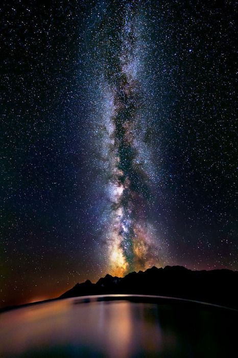 Awesomeness. Milky Way over Lake Titicaca, Peru