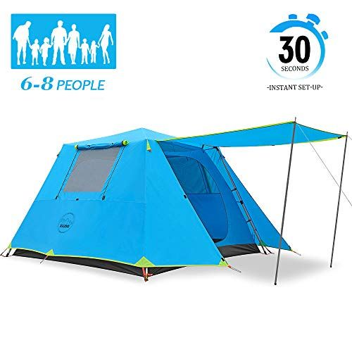 KAZOO Family Camping Tent 6-8 Cabin Saturn (Instant ...
