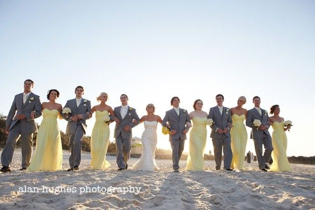 Yellow and Blue-grey Wedding Colour Palette | The Bride's Tree - Sunshine Coast Wedding    Photography by: Alan Hughes Photography