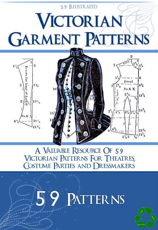 59 vittoriano indumento Pattern Design proprio costumi teatrali per sarte 102 pagine stampabili o leggere sul tuo iPad o Tablet