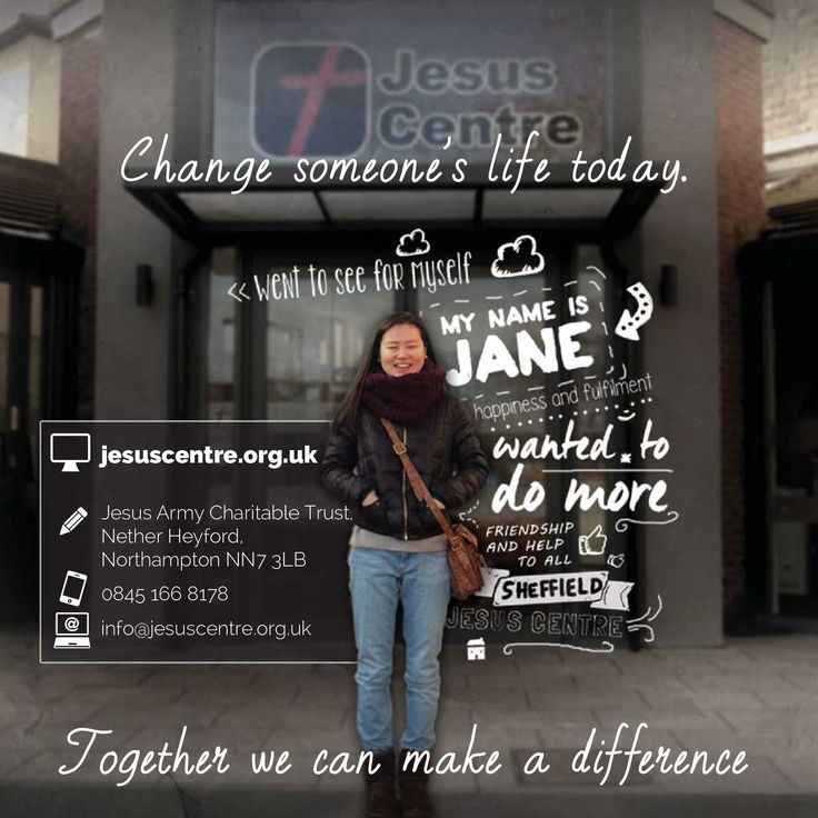 Jesus Centre Brochure | Charity poster | Booklet | Thought cloud design | Personal touch | Testimony