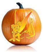 Tinkerbell Pumpkin Stencil