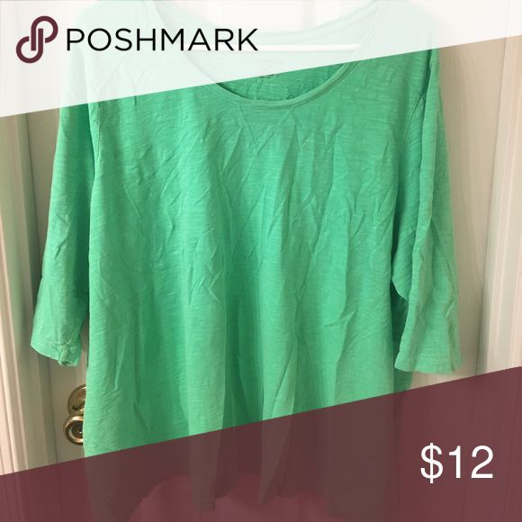 Lime green shirt Lime green shirt with sleeves to the elbow Catherines Tops Tees - Long Sleeve