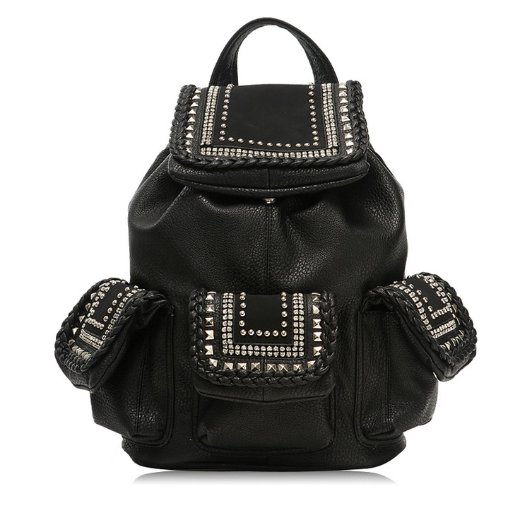 Fashion Studded Black Backpack $59.90