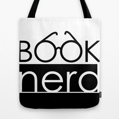 Book Nerd Logo Glasses  Tote Bag by cleopetradesign.com - $22.00