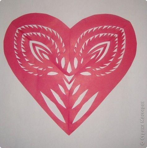 Wycinanki Paper Heart