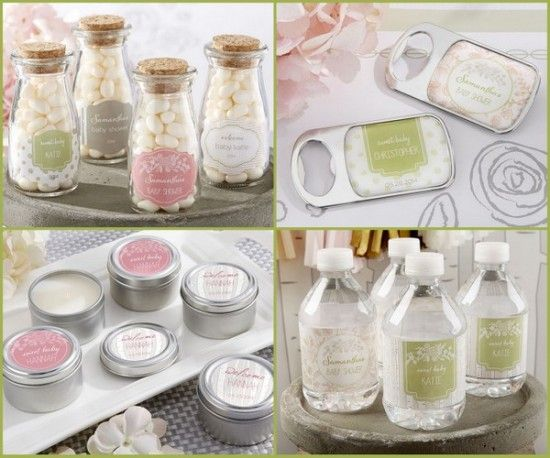 rustic baby shower party favors