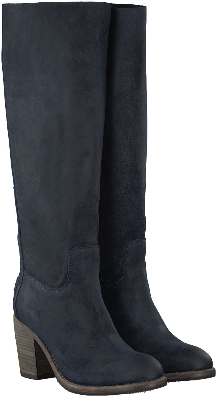 Blauwe Shabbies Lange laarzen 250191