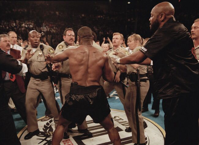 Mike Tyson Police In Ring