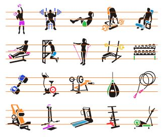 Fitness Icons 1 - Download