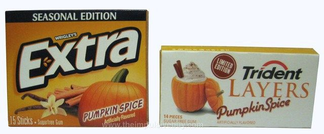 REVIEW: Wrigley's Extra Seasonal Edition and Trident Layers Limited Edition Pumpkin Spice Gums | The Impulsive Buy