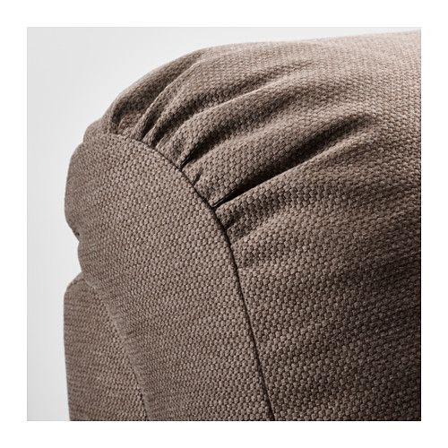 TIDAFORS Corner sofa with arm right - Dansbo medium brown - IKEA