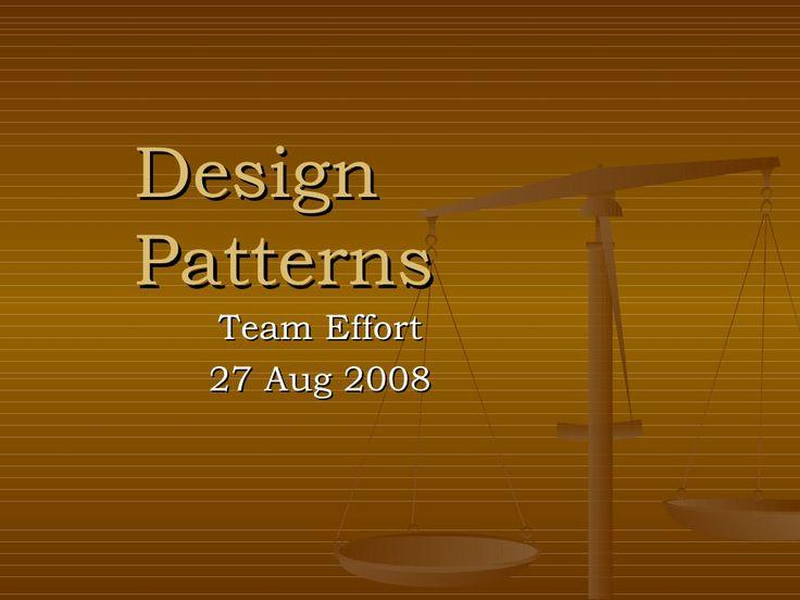 Design-Patterns-1033051 by soms_1 via Slideshare