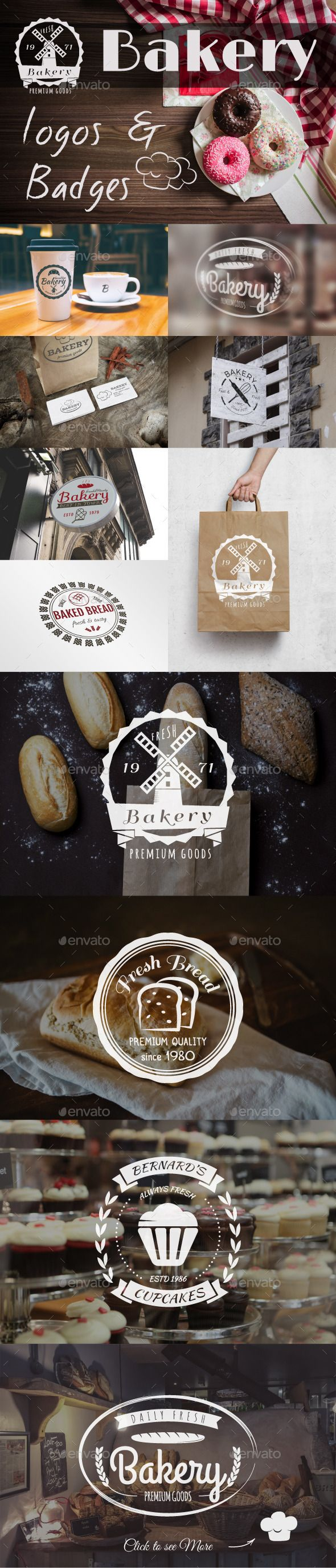 Bakery Logos & Badges #transparent #png #sweets #bake • Available here → https://graphicriver.net/item/bakery-logos-badges/12952751?ref=pxcr
