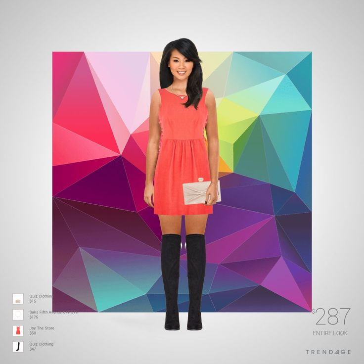 Fashion outfit made by DELUNA using clothes from Saks Fifth Avenue OFF 5TH, Joy The Store, Quiz Clothing. Look made on Trendage.