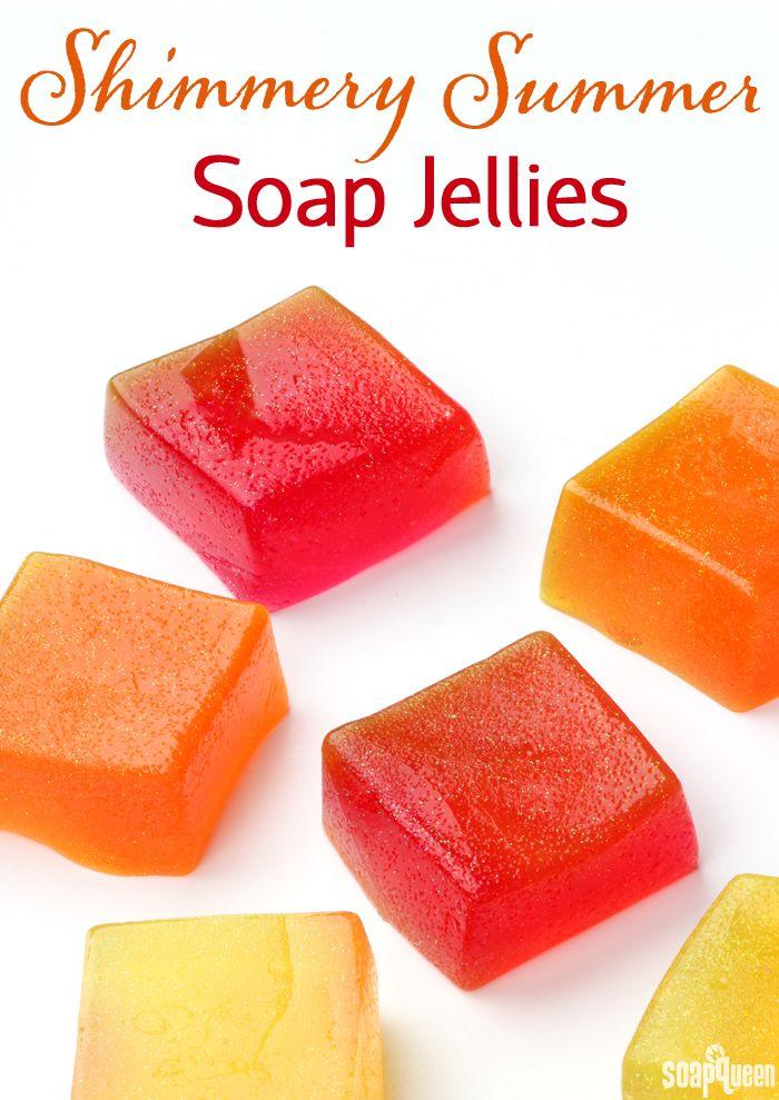 Shimmery Summer Soap Jellies DIY