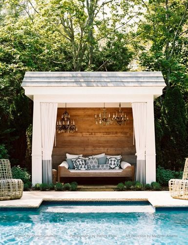 belle maison: Outdoor Oasis, Poolhous, Dreams, Pools Huts, Pools Houses, Interiors Design, Backyard, Outdoor Spaces, Outdoor Pools