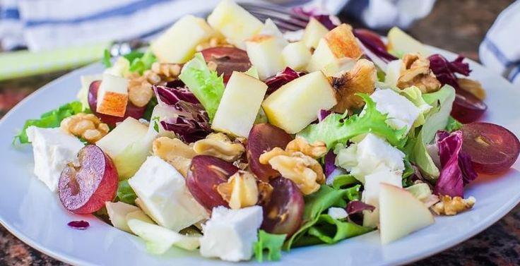 Salade d'épinards aux pommes et feta...Vinaigrette érable & balsamique - Recettes - Ma Fourchette