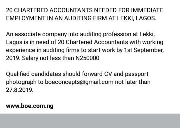 Mycareermatters Job Jobs Nigeriajob Lagosnigeria Graduate