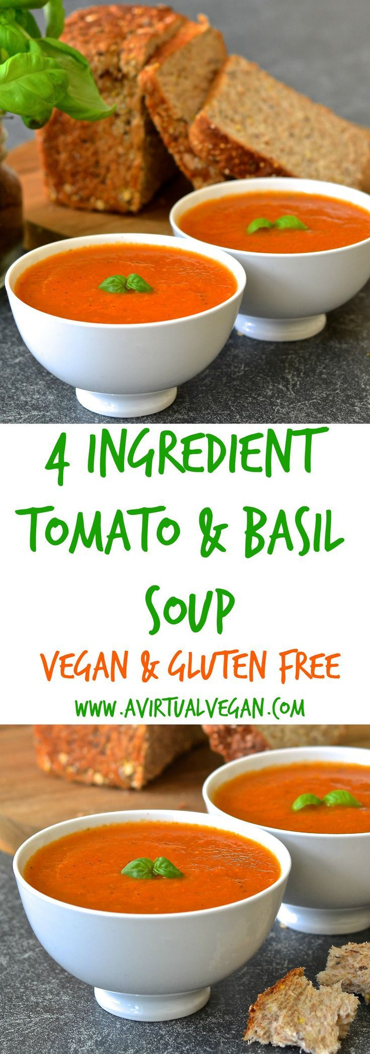 tomato & basil soup #cassiemadeit *I used a mixture of roasted cherry tomatoes, canned diced tomatoes, and canned tomato sauce plus I had to sub dried basil for fresh. I also added in a couple handfuls of spinach. The result was an ok soup. I don't know,