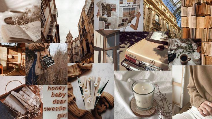brown aesthetic backgrounds desktop laptop collage macbook albina birrei