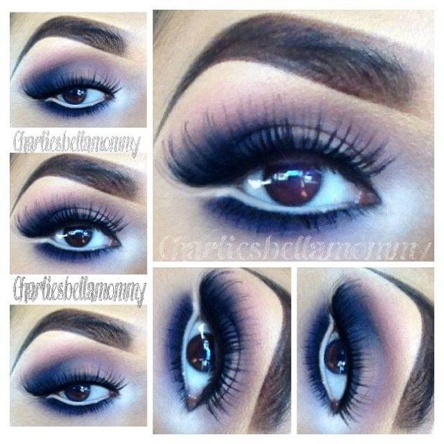 Eye makeup using AMAZING Smokey Eye Palette from @b h Cosmetics