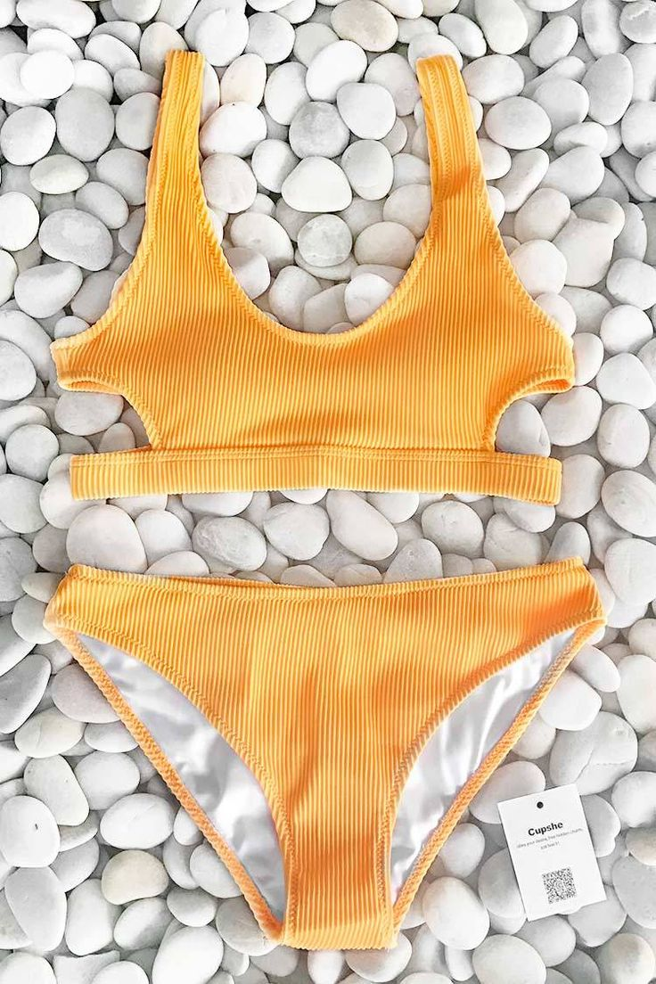 Cupshe Feather Yarn Solid Bikini Set, I think this is a cute suit and perfect for the summer