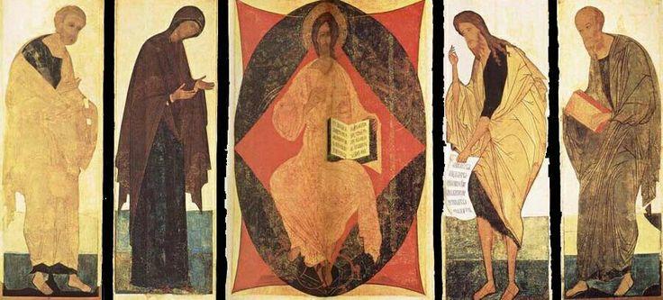 Icone della Deesis di Rublëv e aiuti. Tret'jakov Gallery Mosca
