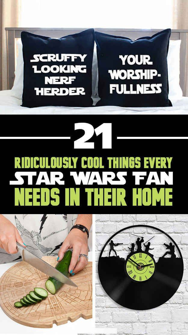 Gift ideas  21 Ridiculously Cool Things Every Star Wars Fan Needs In Their Home