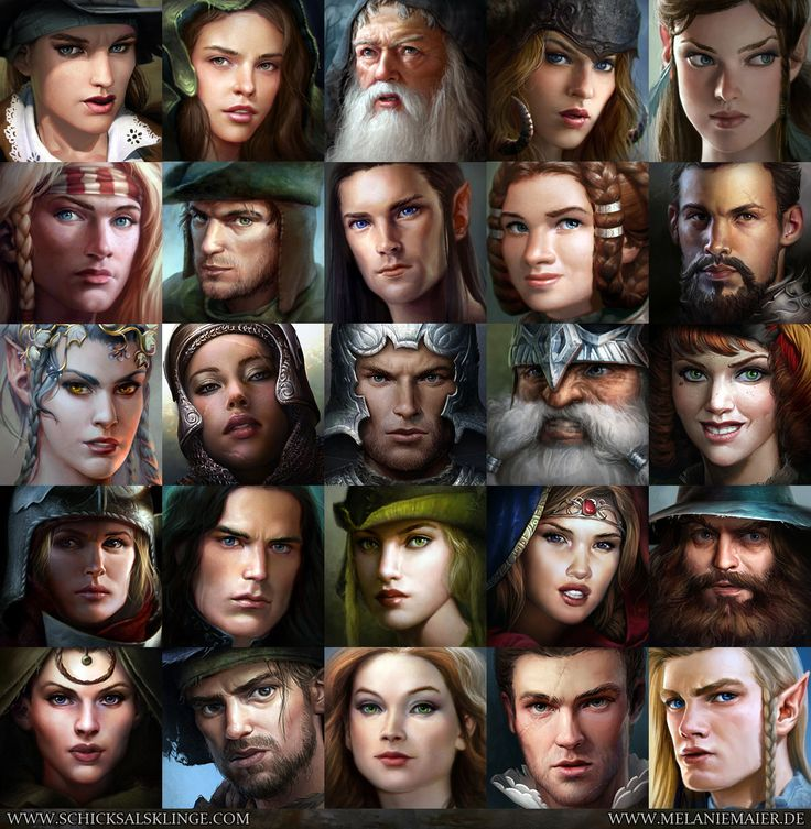 Character portrait thumbnails for an rpg melanie maier on