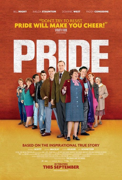 Pride a film about the gay activists and striking minors coming together to support each other in the troubles of 1980's England. Great movie. Lots of people you'll recognize!