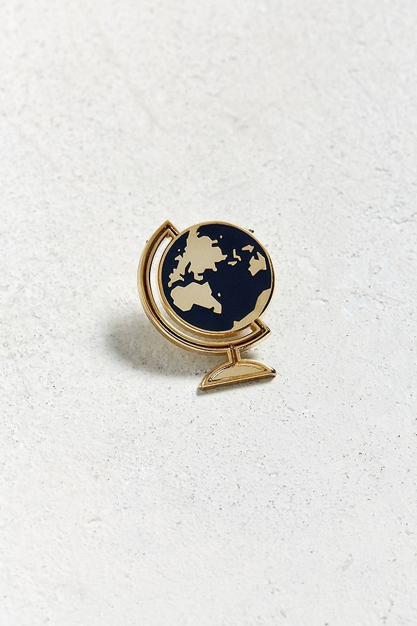 Slide View: 1: These Are Things Desk Globe Pin