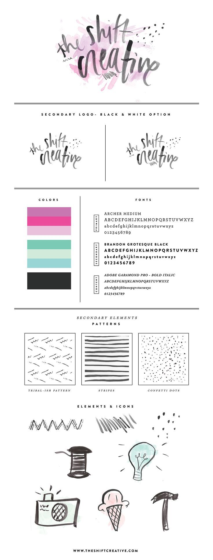 hand drawn elements: The Shift Creative, by Kayla Adams || theshiftcreative.com