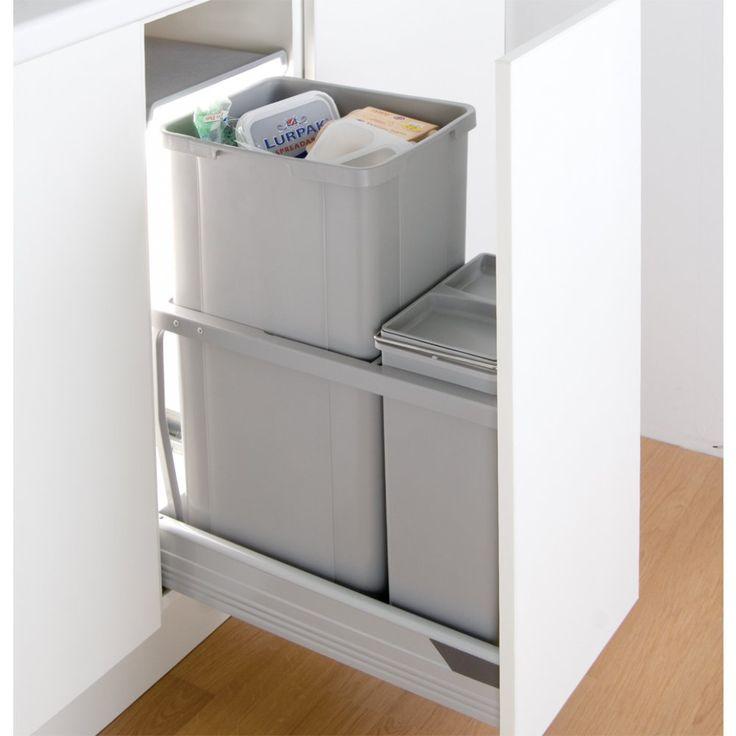 Wesco In-Cupboard 42L Recycling Bin for 300mm Pull Out Door – Binopolis