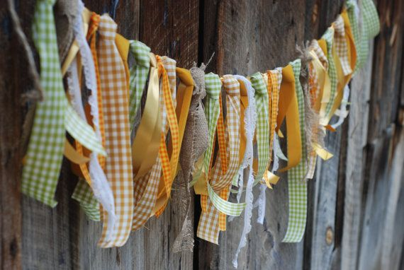 Ready to Ship Garland - Beautiful Autumn Rustic Bunting - Burlap and Lace Wedding - Photo Prop  - Birthday Party - Fall Mantel Decoration on Etsy, $14.99