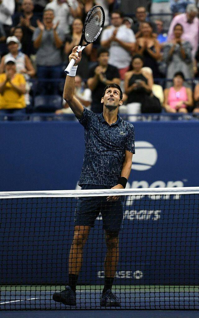 Novak Djokovic Move To Third Round In Us Open 2018 Novak Djokovic Soccer Tennis Tennis Stars