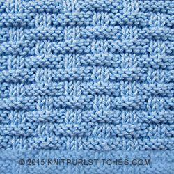 Broken Rib pattern | Knit and Purl stitches